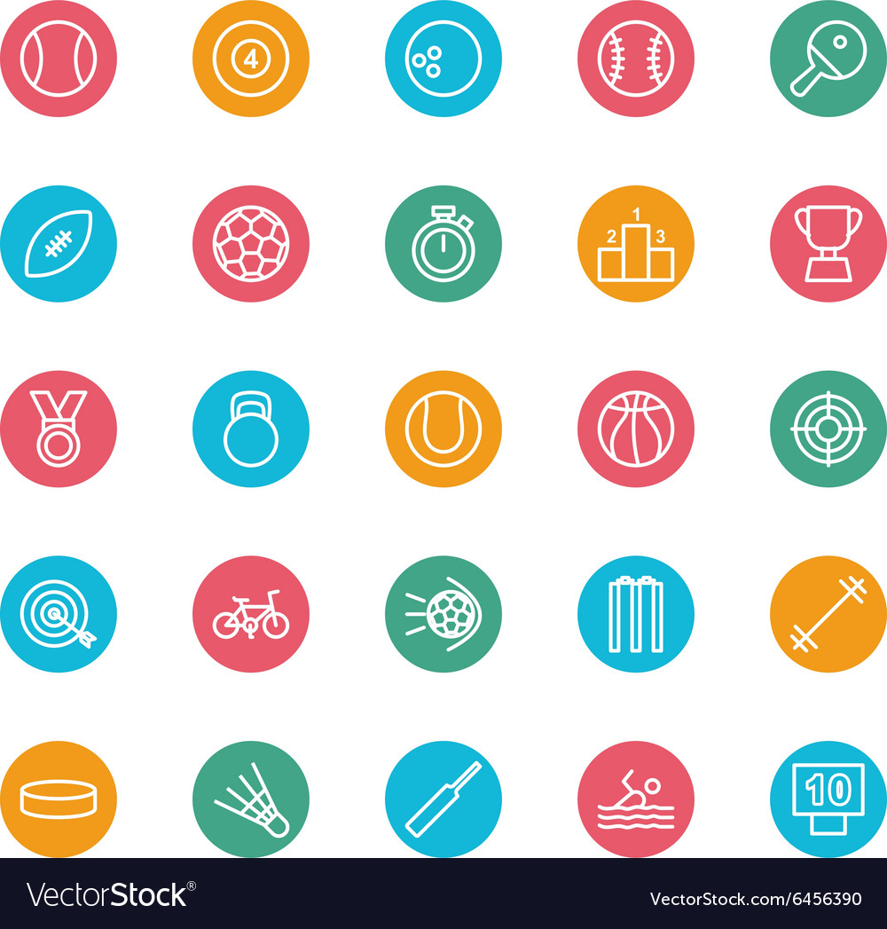 Sports colored circle vector