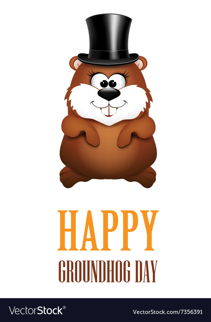 Happy groundhog day greeting cards vector