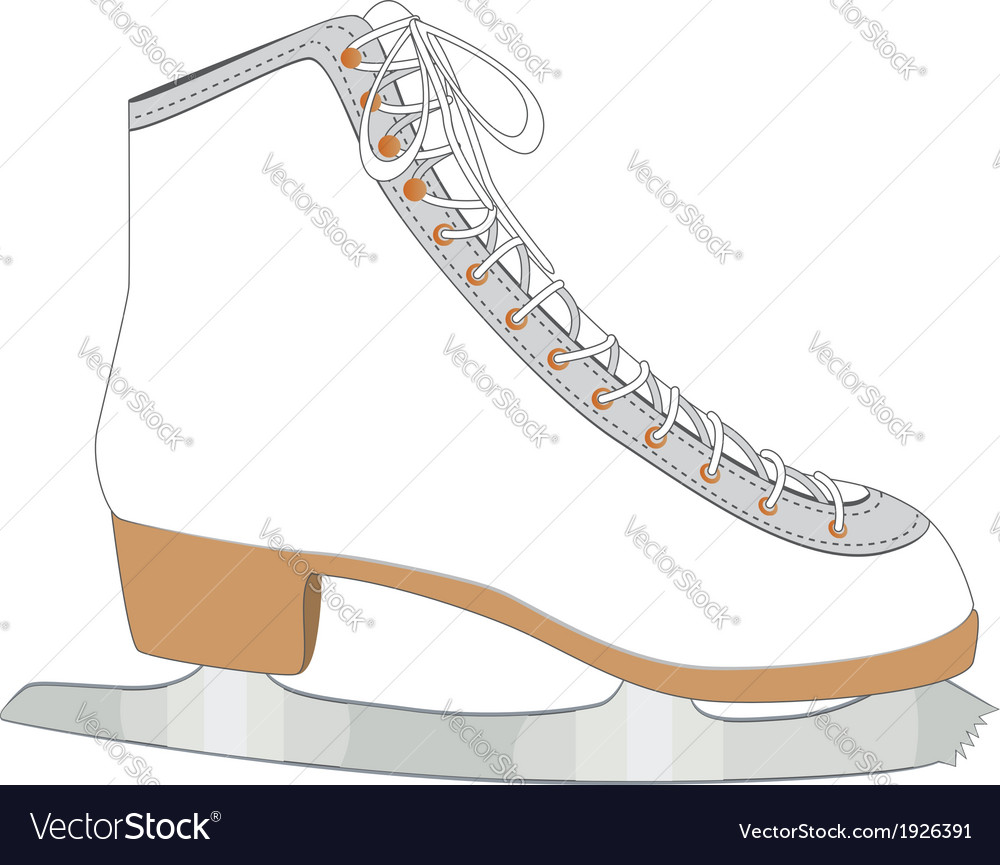 White ice skate vector