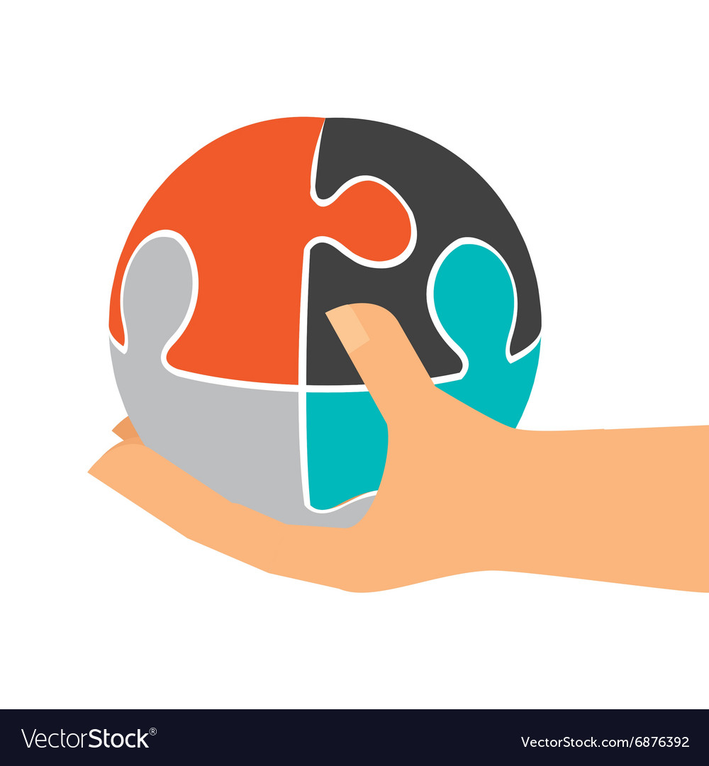 Collaborative teamwork design vector