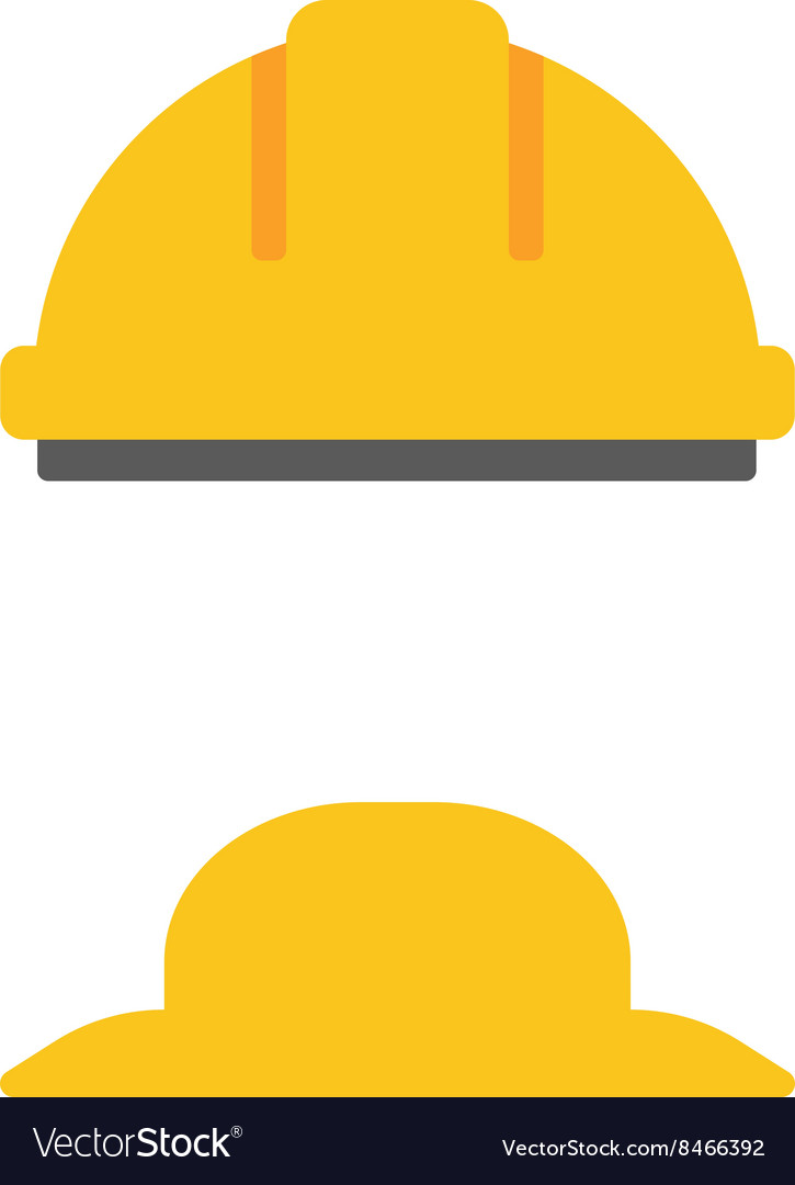 Hard hat and summer hat vector