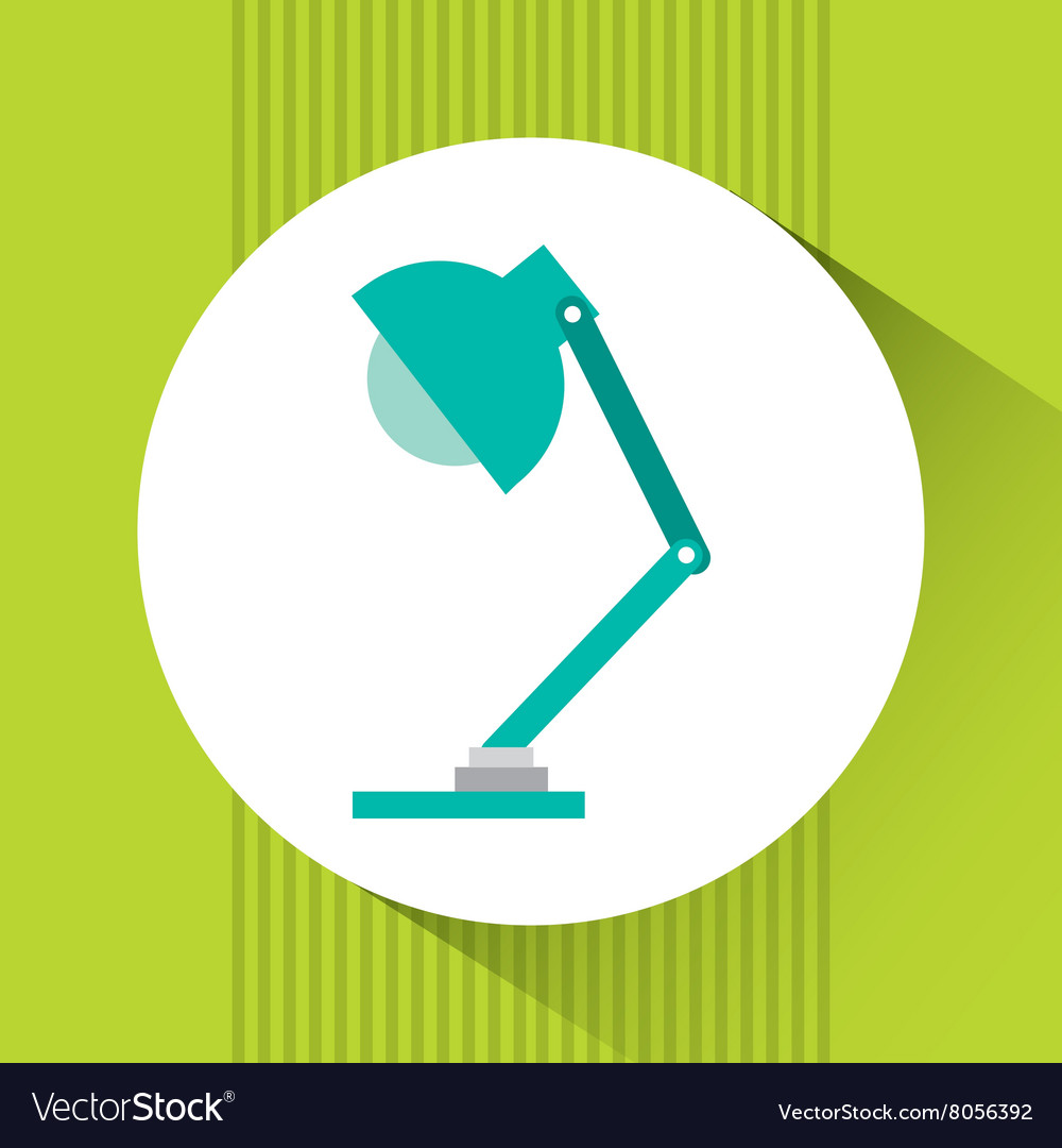 Office lamp design vector