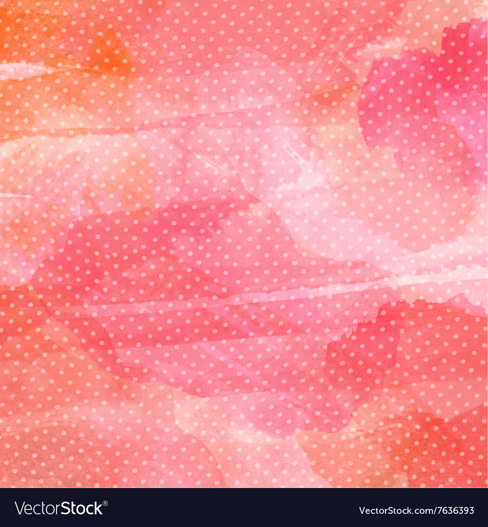 Polka dot watercolor background 1401 vector