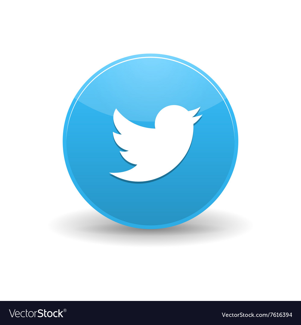 Twitter icon simple style vector