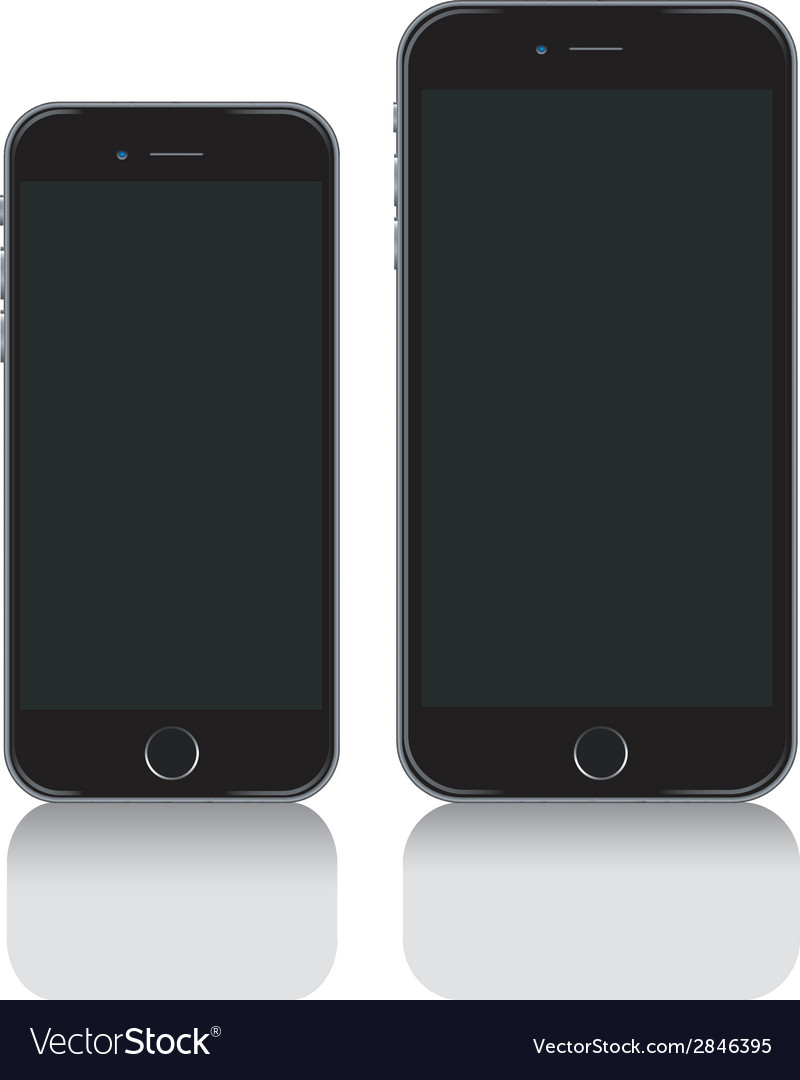 Iphone 6 iphone 6 plus and iphone 6s vector