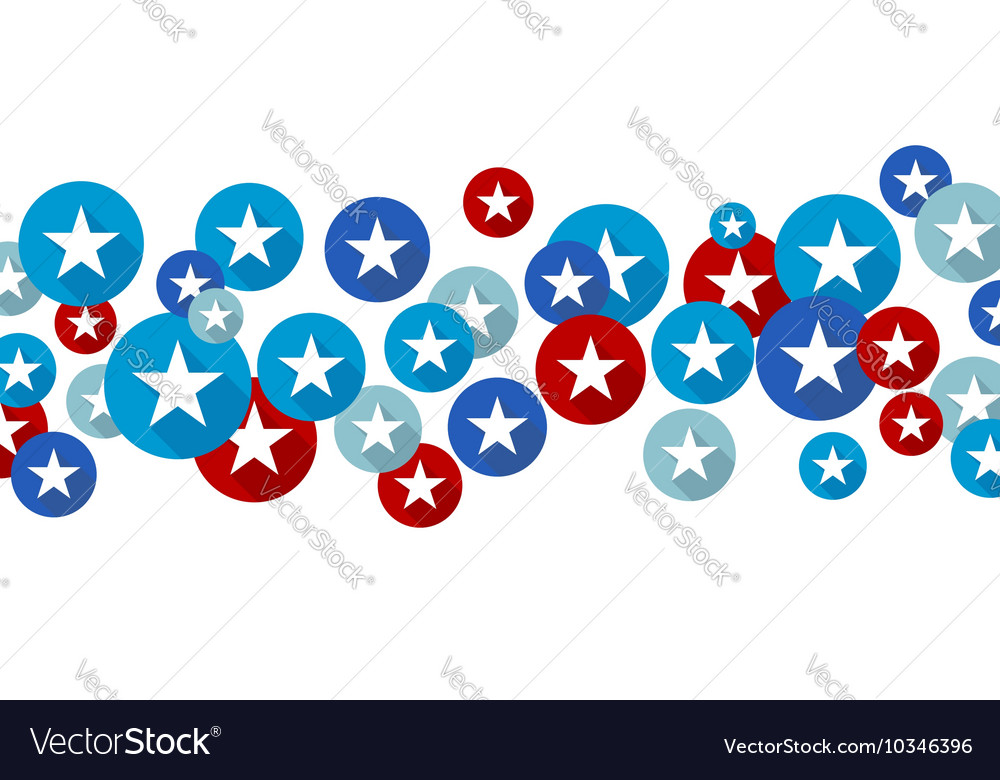 Star symbol in blue and red circles vector