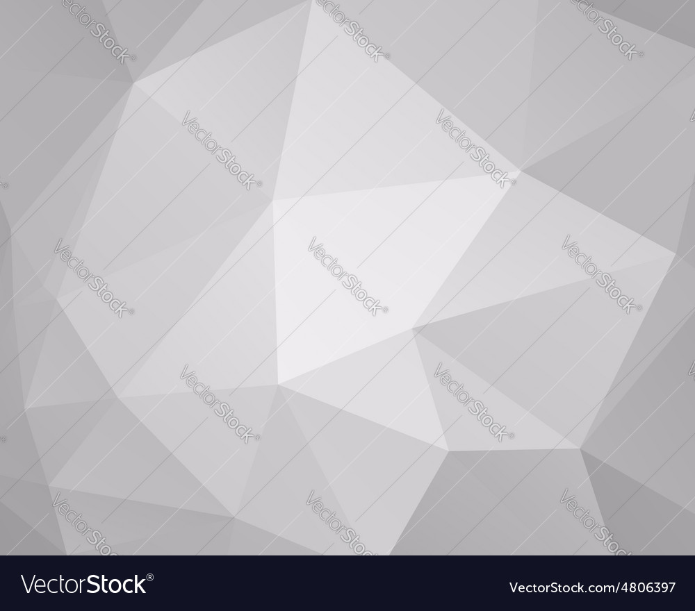 Abstract grey triangle background low poly design vector