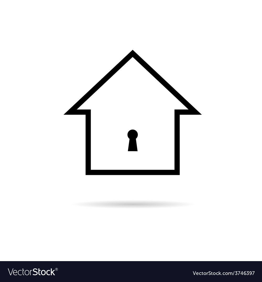 House with keyhole vector