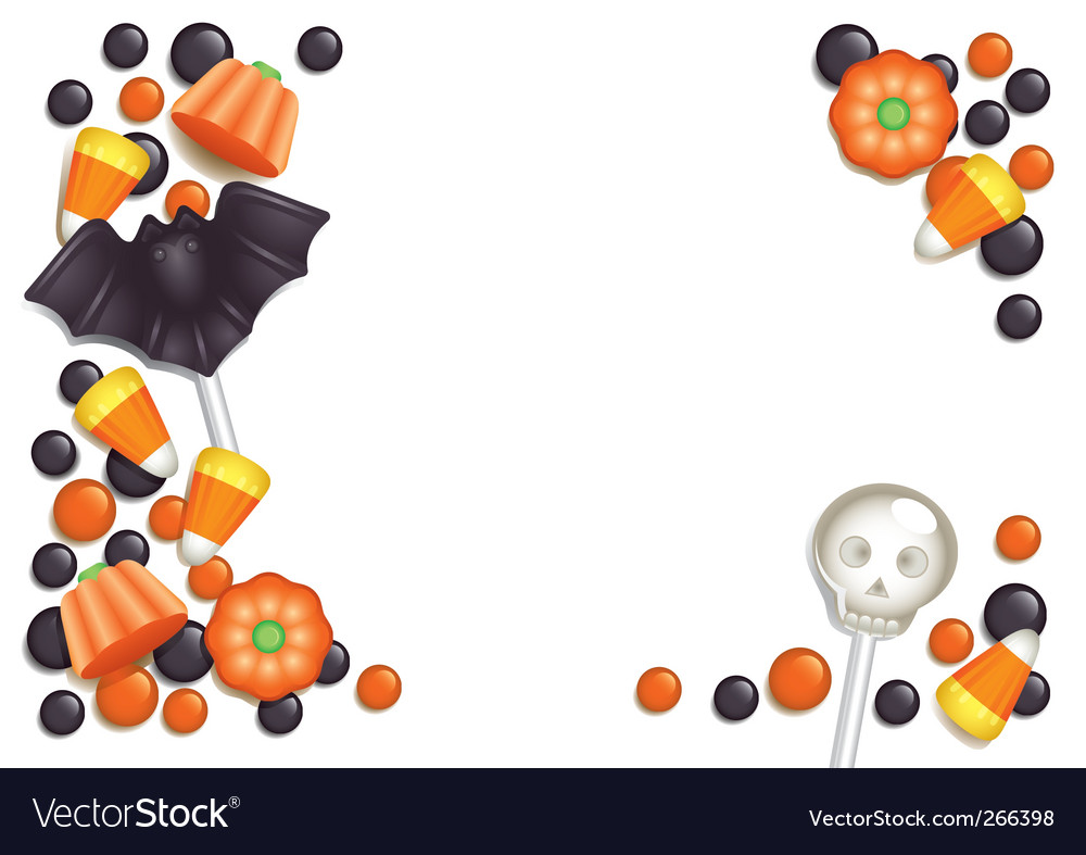 Halloween candy postcard vector