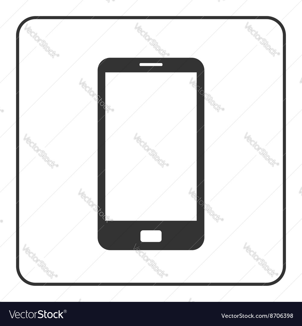 Phone mobile icon smartphone 1 vector