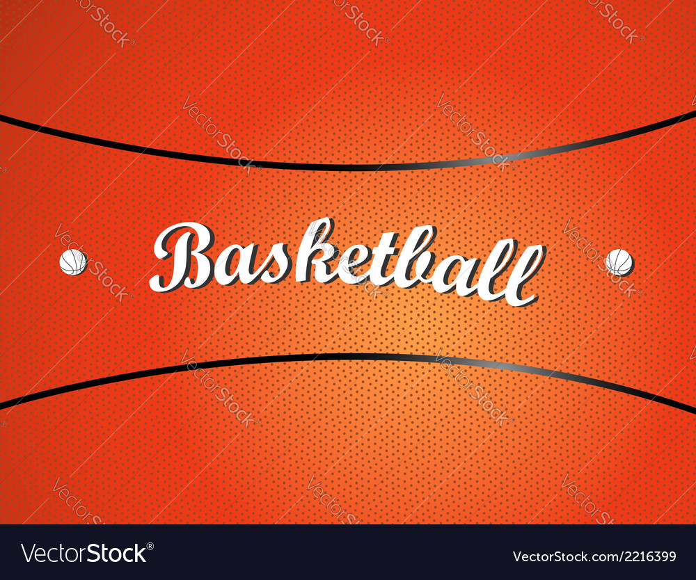 Basketball texture vector