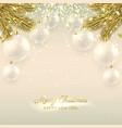 Beautiful Christmas banner with glass balls vector image