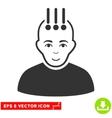 Neural Interface EPS Icon vector image