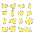 hand drawn doodle frames vector image vector image