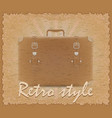 retro style poster old suitcase vector image vector image