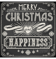 Vintage Merry Christmas Text on a Blackboard vector image