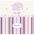romantic baby girl announcement card vector image