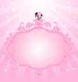 Princess pink frame vector image vector image