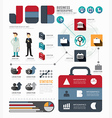 Infographic Businessworld job template vector image