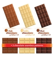 Big collection of chocolate vector image