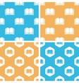 Book pattern set colored vector image