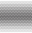 Halftone monochrome geometric pattern vector image