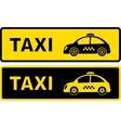 black and yellow retro taxi sign vector image vector image