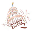 Funny chocolate cake vector image