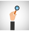 hand hold icon search loupe design flat isolated vector image
