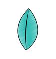 leaf single icon image vector image