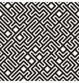 Seamless Black and White Irregular Maze vector image