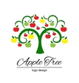 Stylized apple tree vector image