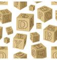 wooden alphabet blocks pattern vector image