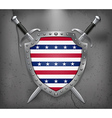 Stars and Stripes Flag Medieval Background vector image