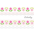 embroidery decorative ribbons isolated on white vector image vector image
