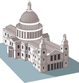U S Capitol dome vector image