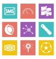 Color icons for Web Design set 40 vector image vector image