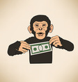 Monkey with dollar vector image vector image