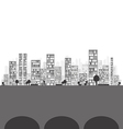 Building and City vector image