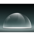 glass dome on a dark background vector image vector image