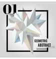 Light abstract geometric polygonal shape vector image