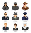 Set Characters of Criminals and Law Enforcers vector image