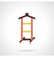 Hanger stand flat color design icon vector image
