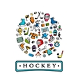 Hockey banner sketch for your design vector image vector image