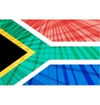 Abstract image of the South African flag vector image