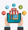 Apps market design vector image