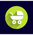 baby stroller icon maternity wheel vector image
