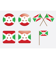 badges with flag of Burundi vector image