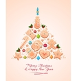 Christmas Tree Cookies vector image