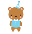 cute bear in the cap vector image
